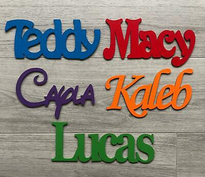 ANY NAME Wooden Name Plaque Board Word & Letters For Wall/door Craft Sign Toybox • 2.94£
