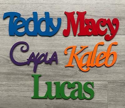 £4.95 • Buy Personalised Wooden Name Plaques Words/Letters Wall/Door Art/craft/Sign Script
