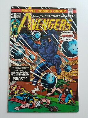 Earths Mightiest Heroes 'The Avengers' Silver Age Vol 1 #137 VG • 25£