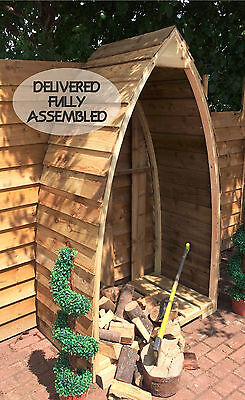 Gothic/Boat Shaped Wood / Log / Garden Store  • 179£