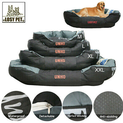 AU86.92 • Buy AU L-XXL Dog Bed Large Luxury Waterproof Sofa Removable Pillow 2 In1 Pet Cushion