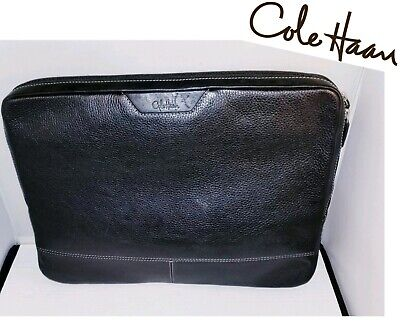 Cole Haan - Leather Laptop Case, Dual Inner Sleeve - Designer Carry Bag / Cover • 56.95$