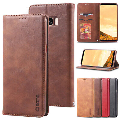 $ CDN8.03 • Buy For Samsung Galaxy S20 Ultra S10e S9 S8+ Magnetic Wallet Case Leather Flip Cover
