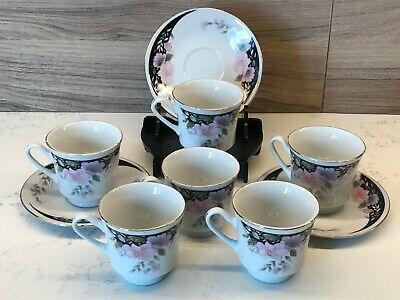 £10.66 • Buy Set Of 6 Coffee / Expresso Cups & 3 Matching Saucers