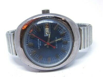 $ CDN32.84 • Buy Vintage Men's CROTON 1878 ELECTRONIC Wrist Watch (Parts Or Repair)