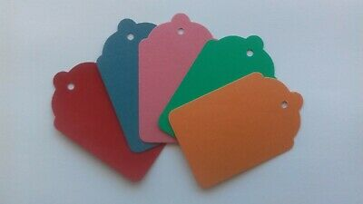 £2 • Buy 100 Coloured Unstrung Tickets 69mm X 44mm Price Tagging Tags Blank Craft Labels