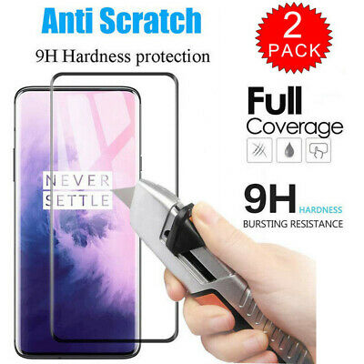 AU4.26 • Buy For OnePlus 7 Pro 7 6 5T 6T 6D Full Cover Slim Screen Tempered Glass Protective
