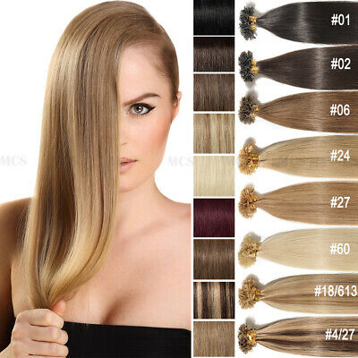 $26.79 • Buy 200S 100Gr Pre Bonded Nail/U Tip Fusions Keratin Remy Human Hair Extensions USPS