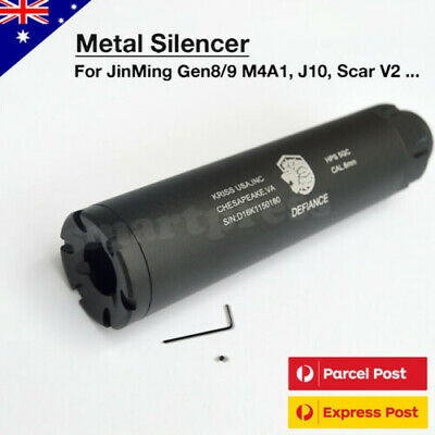 AU34.95 • Buy Upgrade Metal Silencer Muffler For Jinming Gen8 J9 J10 M4A1 Gel Ball Blaster Toy
