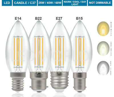 E14 SES 2W 4W Non Dimmable LED Candle Light Bulb Warm White / 25W 40W Desk Lamp • 4.99£