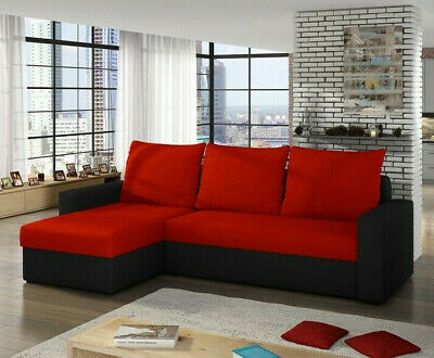 Corner Sofa Bed LIWIO With Storage Container Universal Corner Side New • 310£