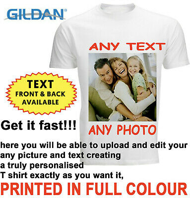 £6.99 • Buy Personalised T-shirt Custom Your Image Printed Stag Hen Party Men Women Kids DTG