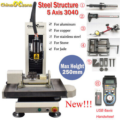 $ CDN7045.77 • Buy Steel Structure CNC 3040 5axis 2.2KW Metal Router Engraving Milling DIY Machine