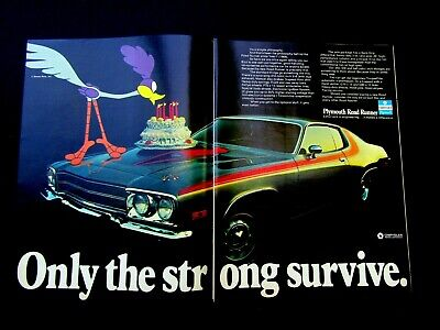 1973 Plymouth Road Runner Happy Birthday BEEP BEEP Original Print Ad 8.5 X 11  • 6.42£
