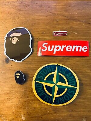 $ CDN12 • Buy Supreme BAPE Pins & Stone Island Stickers Box Logo BOGO Decals Hypebeast Pack