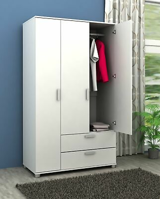AU249 • Buy  3 Door + 2 Drawer Wardrobe Matt White Finish