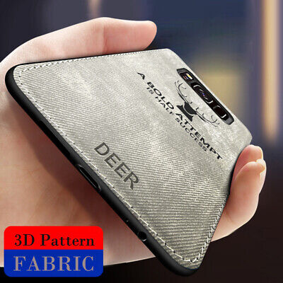 $ CDN4.44 • Buy For Samsung Galaxy S7 S8 S9 S10 Plus Hybrid Silicone Cloth Case Shockproof Cover
