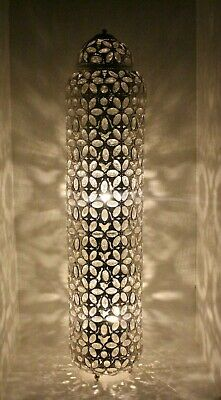 Large Resplendent Floor Lamp Bohemian Decor Moroccan Jewelled 100cm Flower Cut • 139.99£