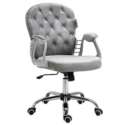 Cherry Tree Furniture Chesterfield Diamante Button Swivel Chair With Chrome Feet • 72.99£