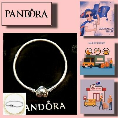 AU62.99 • Buy Christmas Gift Pandora Moments Heart Clasp Snake Chain Bracelet Item# 590719