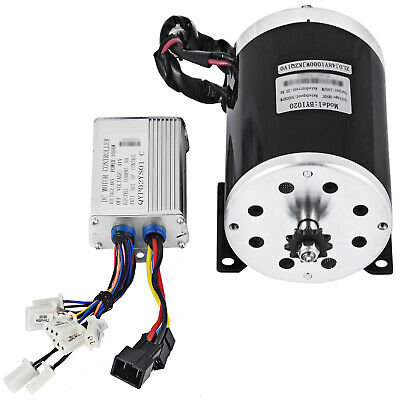 48V DC Electric Brushed Speed Motor 1000W W/ Controller Go Kart E Bike Kit • 61.07£