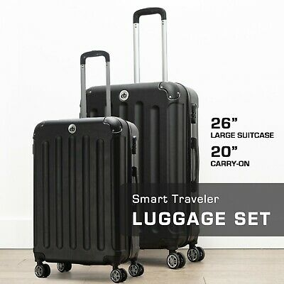 View Details Destination Bags Hardside Spinner Roller Luggage Suit Case Set (QTY 2 Included) • 99.99$