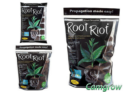 £9.95 • Buy Root Riot Tray Of 24, Refill Bags With 50 Or 100 Cubes Propagation Rooting Cubes