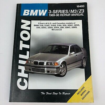 chilton bmw 3-series/m3/z3 1989-98 auto repair manual 18400