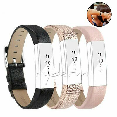 AU14.34 • Buy For Fitbit Alta / Alta HR Genuine Leather Watch Replacement Band Wrist Strap DM