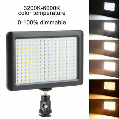 Pad 192 LED Video Light 3200-6000K For DSLR Camera DV Camcorder With Hot Shoe • 14.98£