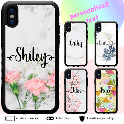 AU11.99 • Buy IPhone 12 Pro Max 11 SE XS XR X Shockproof Case Marble Flower Personalised Name