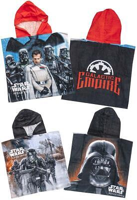 Boys Towel Poncho Hoody Star Wars Galactic Empire Beach One Size 5 To 10 Years • 6.99£