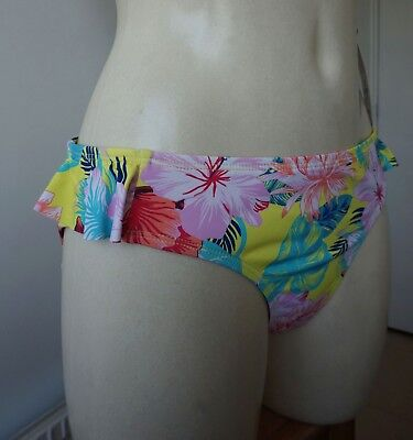 £6.99 • Buy Primark Maximise Your Assets Yellow Mix  Fab Aloha Themed Floral Bikini Bottoms