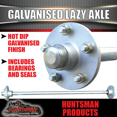 AU182 • Buy Lazy 5 Stud Trailer Axle 39mm Round Galvanised 60-77  Axles 750KG Boat Caravan