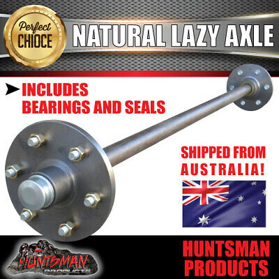 AU172 • Buy Lazy 6 Stud Trailer Axle 39mm Round Natural 60-79  Axles 750KG Boat Caravan