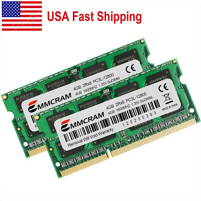$41.35 • Buy US 8GB 2X4GB PC3L-12800 DDR3 1600MHz 204pin For MacBook Pro Mid-2012 A1278 A1286