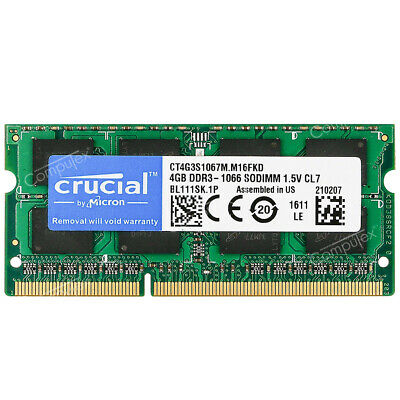 $23.96 • Buy 4GB 8GB PC3-8500 DDR3-1066 204pin SO-DIMM For MacBook Pro Mid-2010 2.4 13  A1278
