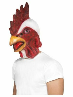Adults Fancy Dress Chicken Mask Overhead Hen Farm Animal Funny Costume Accessory • 12.54£