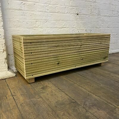 Large Decking Patio Planter - Garden - Wooden -  Trough - A herb Box - 88cm • 44.99£