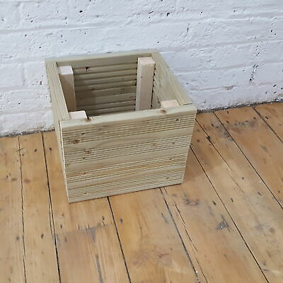 Small Square Wooden Decking Patio Planter Trough Herb Box - 30cm • 29.99£