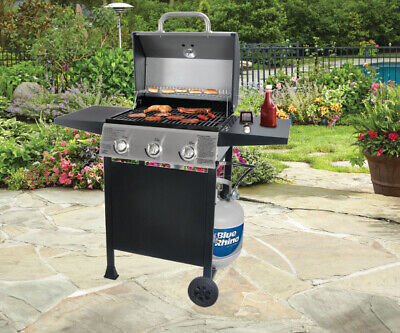 $207.09 • Buy Stainless Steel 3 Burner Gas Grill Propane BBQ Barbecue Deck Patio Fry Cooker