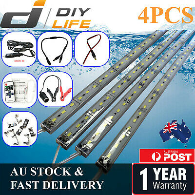 AU19.99 • Buy 4X12V Waterproof Cool White 5630 Camping Led Strip Lights Bars Boat Car Caravan