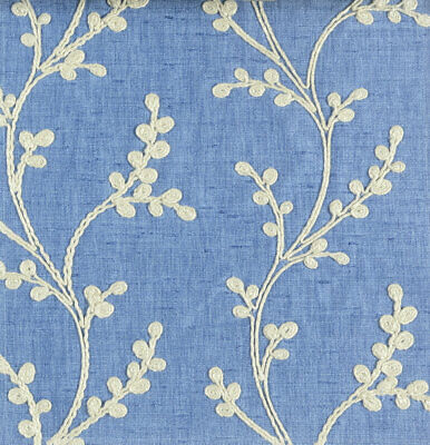 £14.95 • Buy Voyage Maison Sevati Cornflower Embroidered Upholstery Fabric Per Meter Curtains