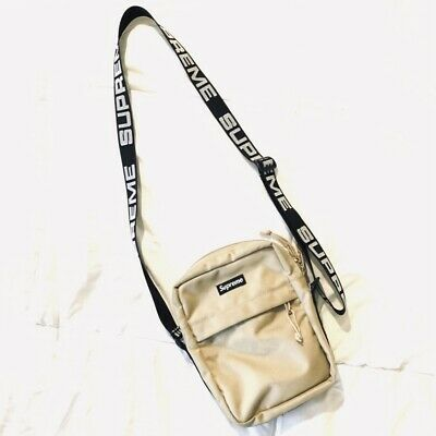 $ CDN262.62 • Buy 100% Authentic Supreme SS18 Tan Shoulder Bag Box Logo Codura Fabric Spell Out