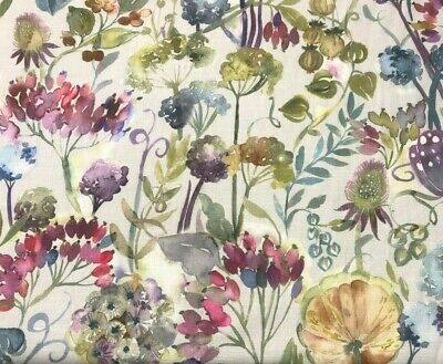 Voyage Patrice Loganberry Ecru Linen Designer Fabric - Per Meter - In Stock Now! • 19.95£