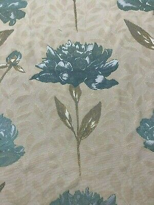 Voyage Decoration  Peploe Duck Egg  Floral Fabric   REDUCED CLEARANCE PRICE • 12.95£