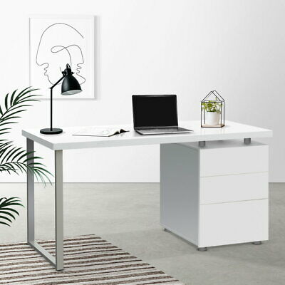 AU222.50 • Buy Artiss Computer Desk Wooden Metal Office Home Study Work Table Drawers White