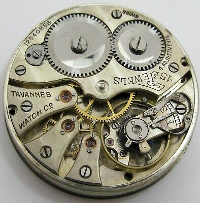 Pocket Watch Cyma Tavannes Movement & Porcelain Dial 15 J. 4 Adj. OF • 22.10£