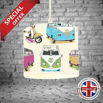 £52.99 • Buy LAMPSHADE Made From .VW Volkswagen Camper Vans Scooters - Muriva Wallpaper. NEW