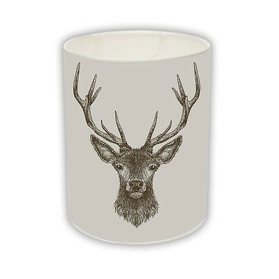 £54.99 • Buy -Red DEER Stag Head Drum Lamp Light Shade Highland COUNTRY HOME Decor Gift Xmas_